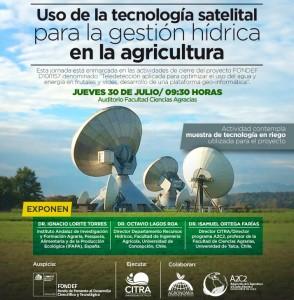 Invitación Seminario: Uso de la tecnología satelital para la gestión hídrica en la agricultura